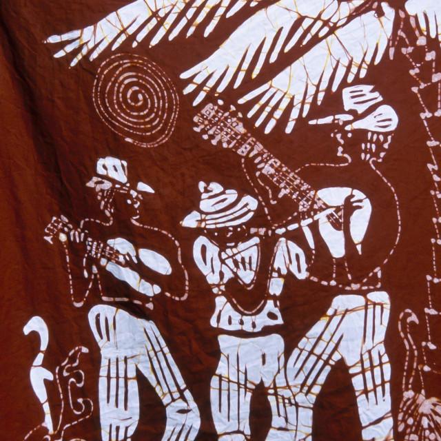 """Batik example St Kitts, Caribbean"" stock image"