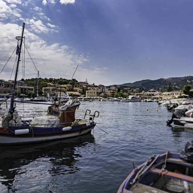 """Boats in the Harbour"" stock image"