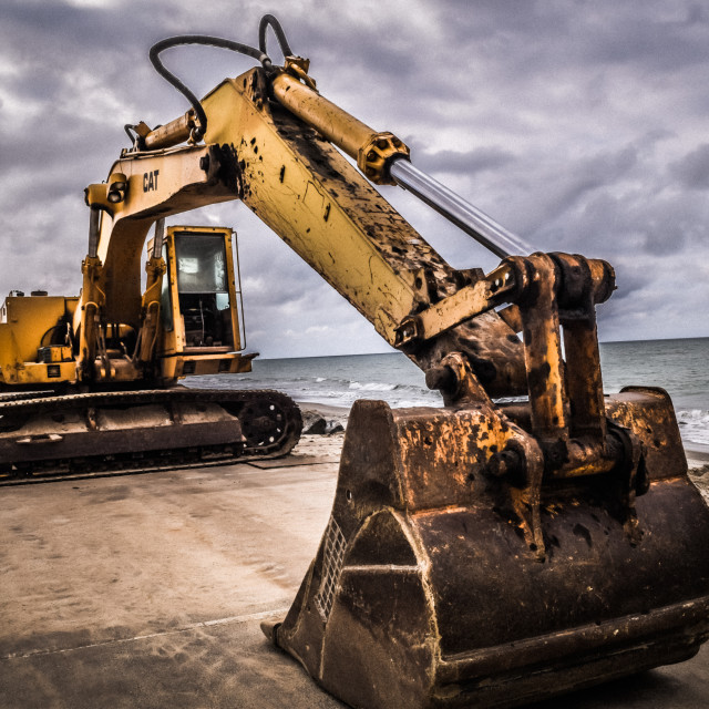 """Caterpillar Excavator"" stock image"