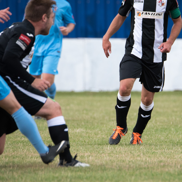 """""""Brentwood Town FC Vs Tilbury FC in the Emirates FA Cup Preliminary Round"""" stock image"""