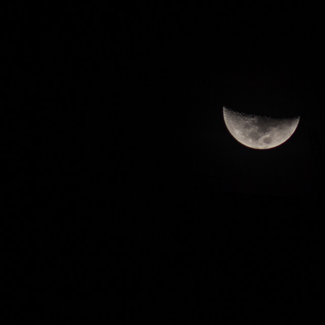 """""""Moon in the sky without stars"""" stock image"""