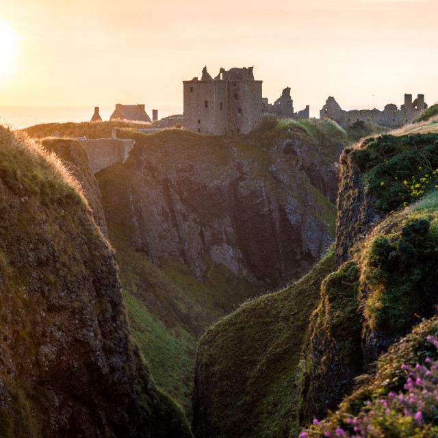 """Dunnotar Castle Sunrise"" stock image"