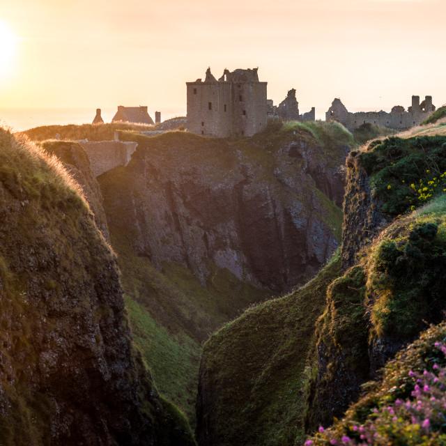 """Dunnotar Castle Sunrise"" stock image"