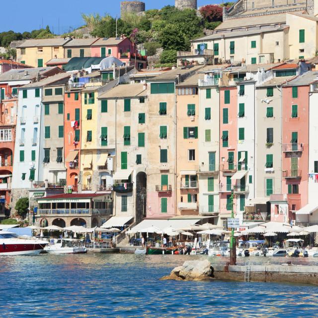 """""""Italy, Liguria, La Spezia, Golfo dei Poeti, Portovenere."""" stock image"""