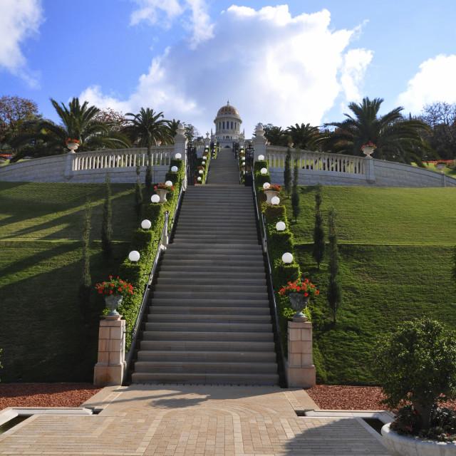 """Bahai Gardens"" stock image"