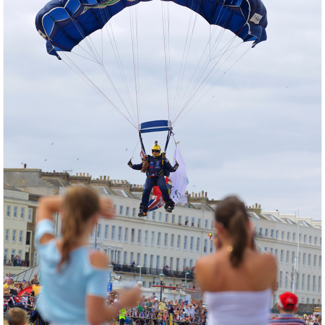 """Herne Bay Parachute"" stock image"