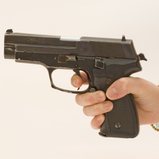 """""""9mm hand gun"""" stock image"""