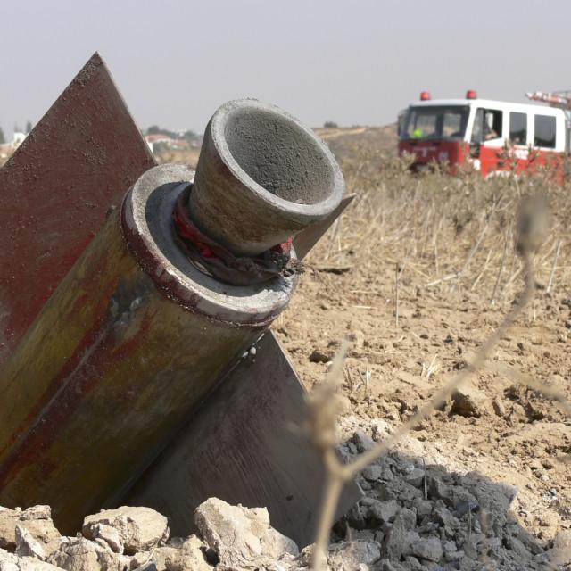 """""""Israel, Sderot, Qassam rockets"""" stock image"""