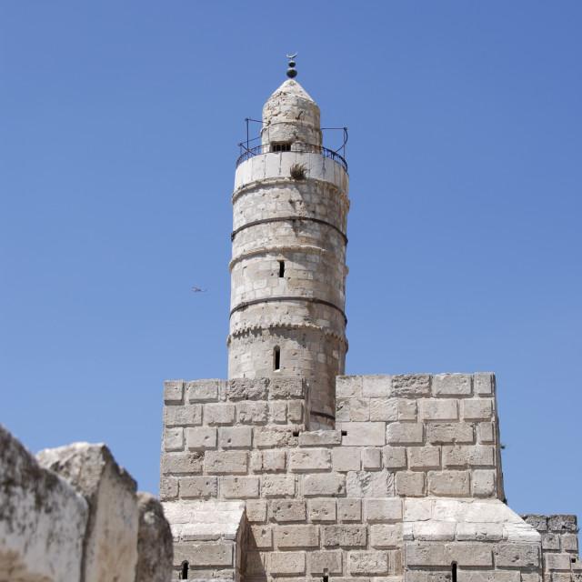 """Israel, Jerusalem, old city ""Tower of David"""" stock image"
