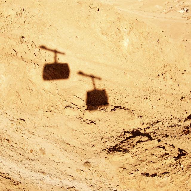 """""""Israel, Masada The cablecar"""" stock image"""