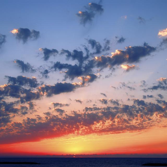 """Mediterranean sun set"" stock image"