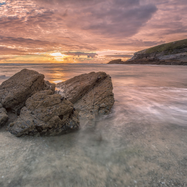 """Cornish sunset"" stock image"