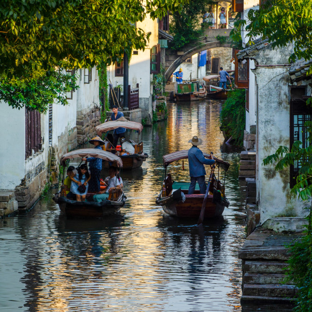 """Zhouzhuang Water Village"" stock image"