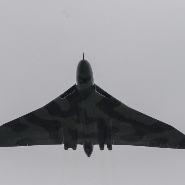 """Low altitude Vulcan Fly past"" stock image"