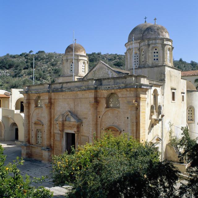 """CRETE.Agia Triada Monastery"" stock image"