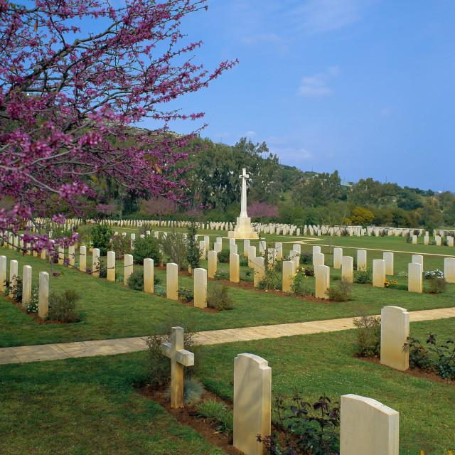 """CRETE, Soudha Bay Allied War Cemetery."" stock image"