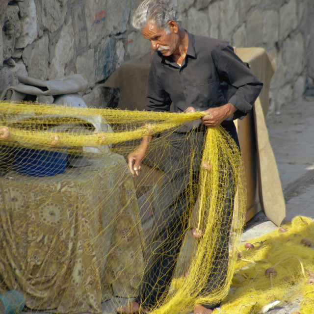 """CRETE, Fisherman"" stock image"