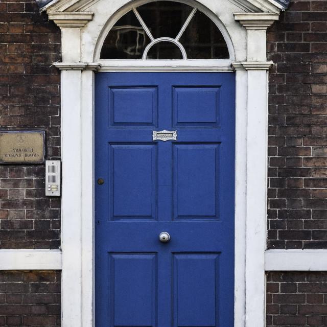"""""""Front door of Masonic Lodge Rooms"""" stock image"""
