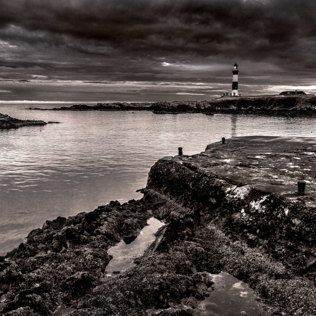 """""""Lighthouse in Boddam"""" stock image"""