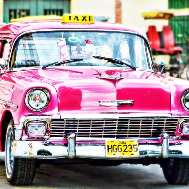 """Pink Panther Taxi"" stock image"
