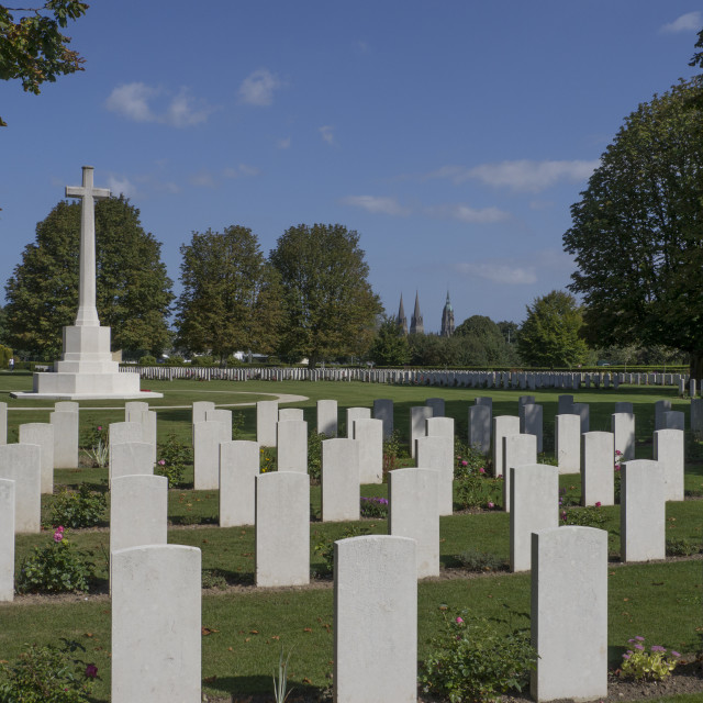 """""""British Military Cemetery, Bayeux Normandy.France"""" stock image"""