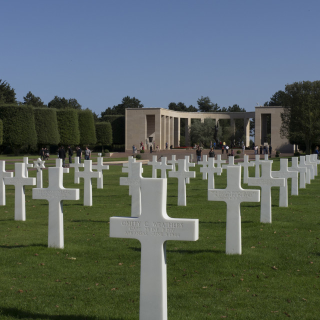 """""""WW2 American Cemetery and Memorial, Omaha Beach. Normandy, France."""" stock image"""