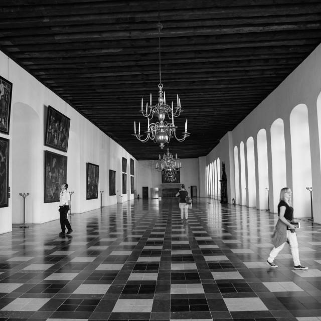 """Dance hall in Kronborg Castle"" stock image"