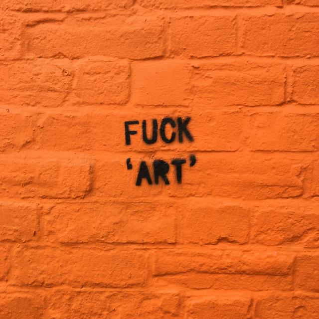 """Orange art wall"" stock image"