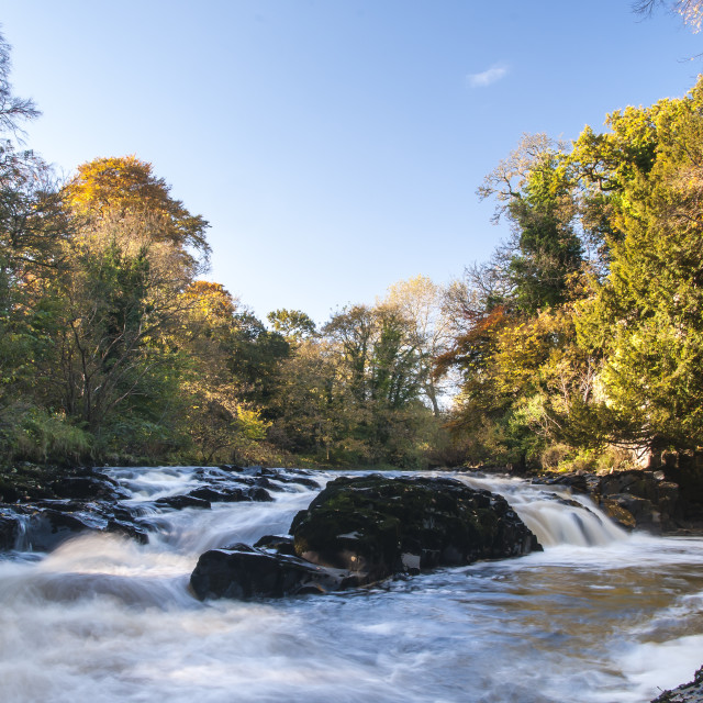 """The River Almond"" stock image"