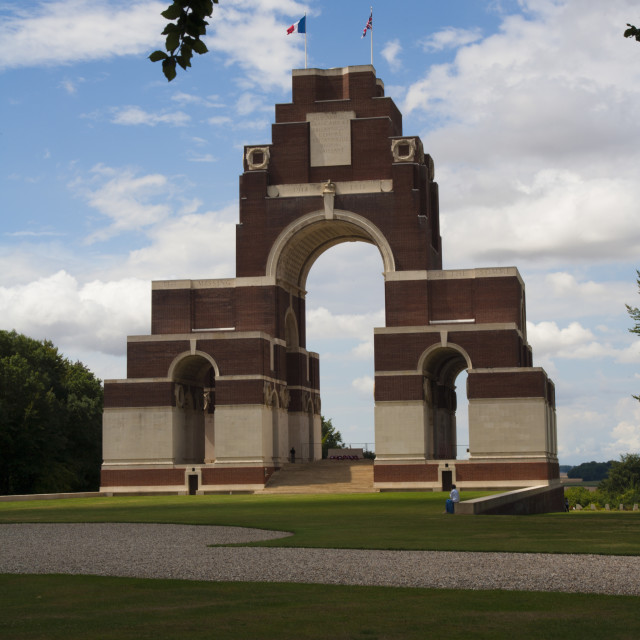 """Thiepval Memorial ,Somme France"" stock image"