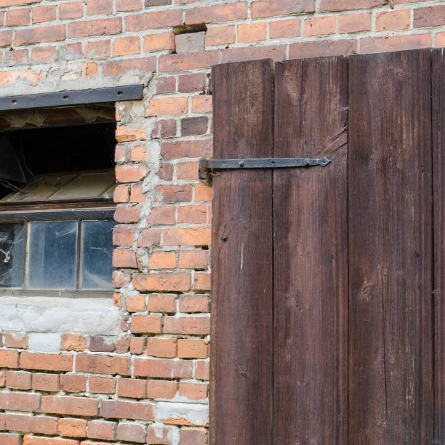 """""""Old Door And Window"""" stock image"""