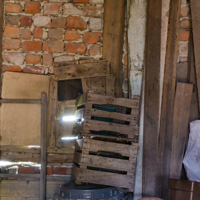 """Inside A Barn"" stock image"