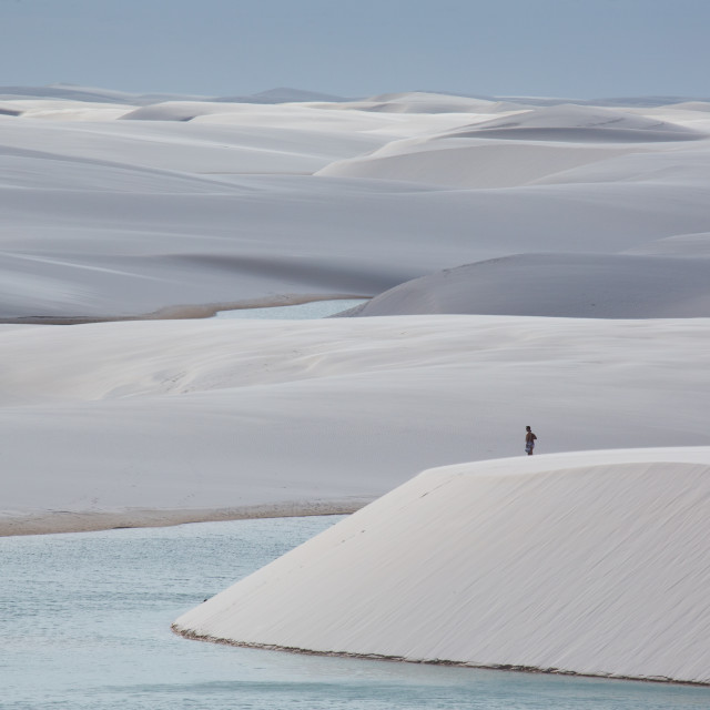"""Lencois Maranhenses national park."" stock image"