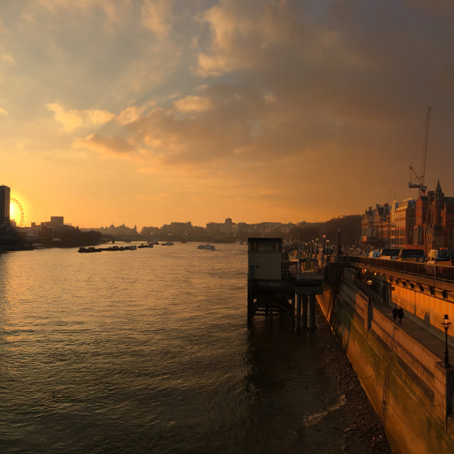 """""""Thames at sunset"""" stock image"""