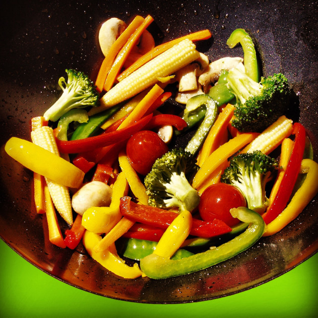 """vegetables stir fry"" stock image"