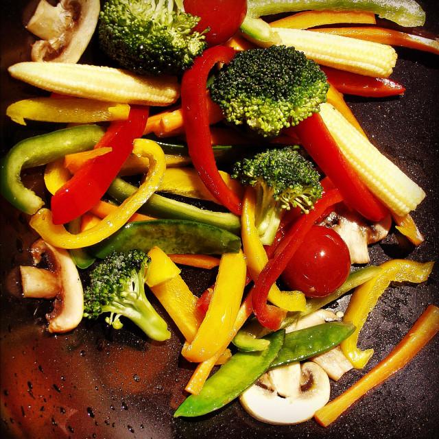 """Stir fry vegetables"" stock image"