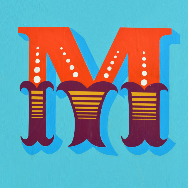 """""""Painted M"""" stock image"""