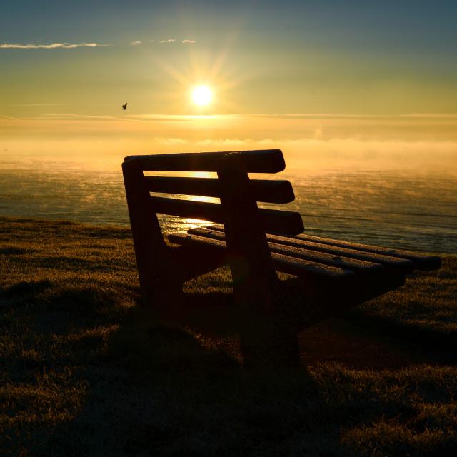 """Sunrise sea view"" stock image"