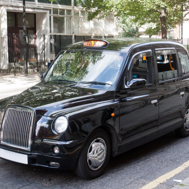 """London Black Taxy"" stock image"