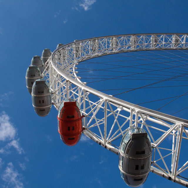 """London Eye and Thames"" stock image"
