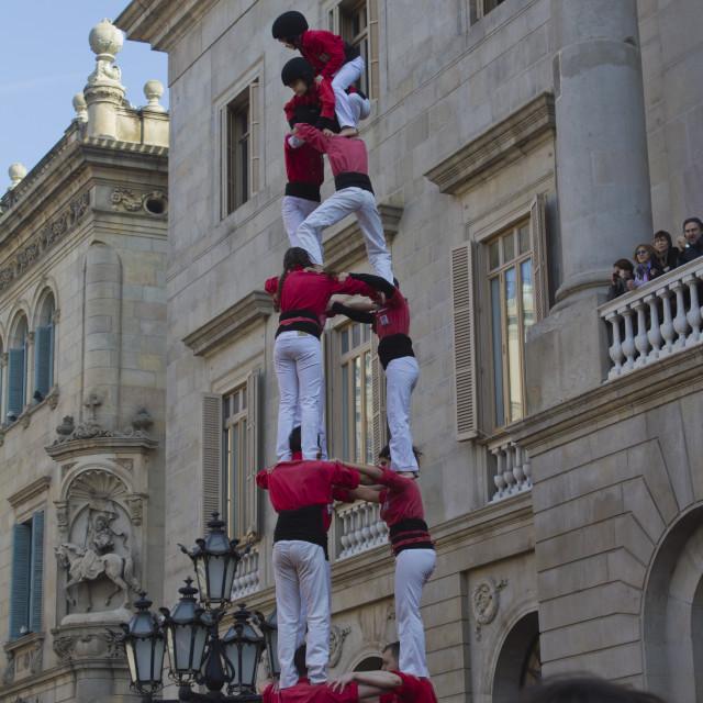 """Human castle in Barcelona"" stock image"