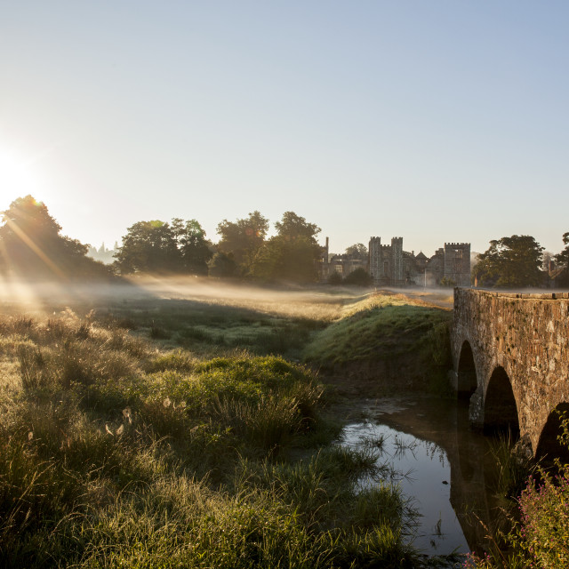 """""""Cowdray House, dawn"""" stock image"""