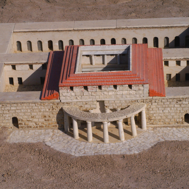"""Model of Jerusalem second temple period"" stock image"