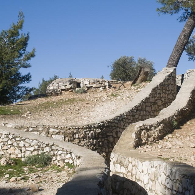 """Israel, Jerusalem The Ammunition hill"" stock image"