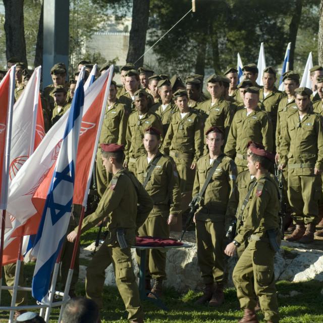 """Israel, Jerusalem Israeli Paratroopers ceremony"" stock image"