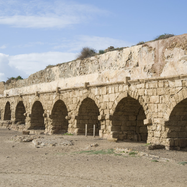 """""""Remains of the Roman Aqueduct, Israel"""" stock image"""