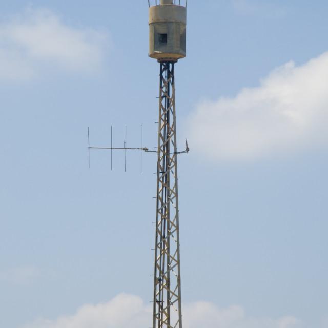 """Air raid siren"" stock image"