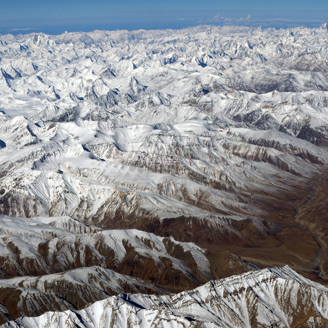 """Mountain range, Leh, Ladakh, India"" stock image"