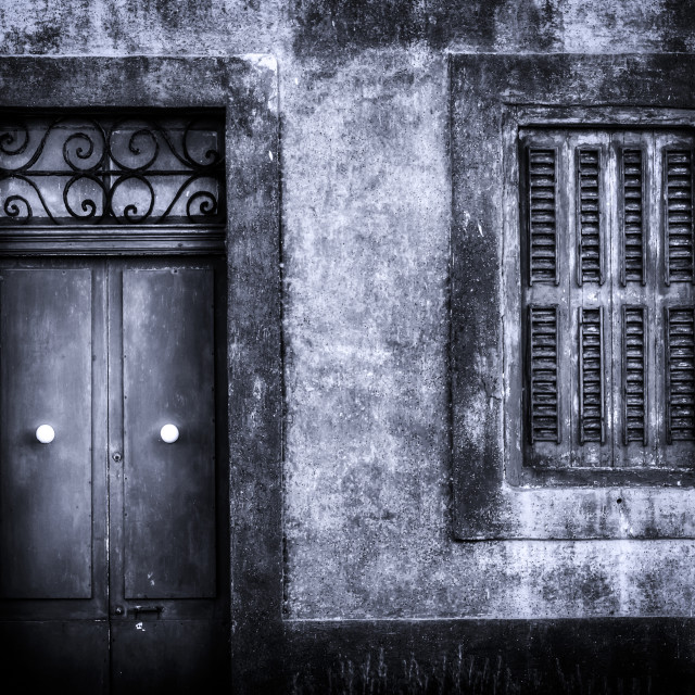 """Door and window"" stock image"