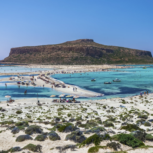 """Summer in Balos lagoon"" stock image"